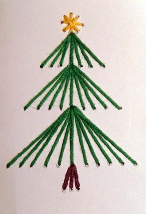 Gestickte weihnachtskarten - Sticken vorlagen kostenlos ...